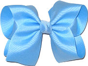 Downsized Large Solid Color Bow 312 Blue