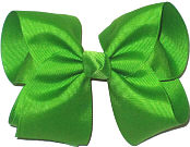 Downsized Large Solid Color Bow Apple Green