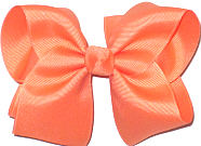 Downsized Large Solid Color Bow Apricot