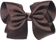 Downsized Large Solid Color Bow Brown