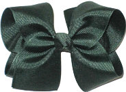 Downsized Large Solid Color Bow Evergreen