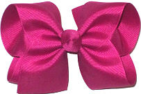 Downsized Large  Solid Color Bow Bow Festive Fuschia