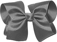 Downsized Large Solid Color Bow Flannel Gray