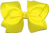 Downsized Large Solid Color Bow Lemon