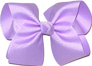 Downsized Large Solid Color Bow Light Orchid