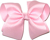 Downsized Large Solid Color Bow Light Pink