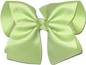 Downsized Large Solid Color Bow Lime Juice
