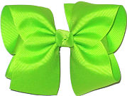 Downsized Large Solid Color Bow Lypple