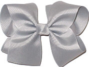 Downsized Large Solid Color Bow Millenium Gray