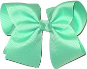 Downsized Large Solid Color Bow Mint