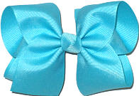 Downsized Large Solid Color Bow Navajo Turquoise