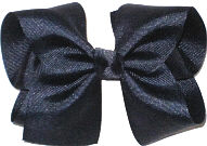 Downsized Large Solid Color Bow Navy
