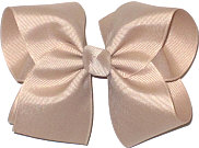 Downsized Large Solid Color Bow Oatmeal