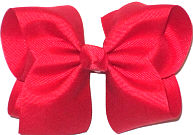 Downsized Large Solid Color Bow Red