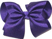 Downsized Large Solid Color Bow Regal Purple