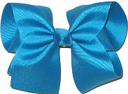 Downsized Large  Solid Color Bow Bow Sapphire