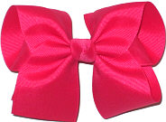 Downsized Large  Solid Color Bow Bow Sarsparillia