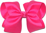 Downsized Large Solid Color Bow Shocking Pink
