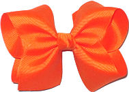 Downsized Large Solid Color Bow Torrid Orange