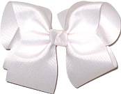 Downsized Large Solid Color Bow White