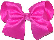 Downsized Large Solid Color Bow Wild Berry