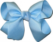 Medium Solid Color Bow 312 Blue