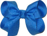 Medium Solid Color Bow Aegean Blue