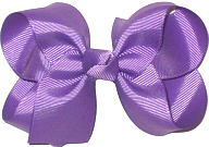 Medium Solid Color Bow Amethyst