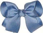 Medium Solid Color Bow Antique Blue