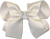 Medium Solid Color Bow Antique White