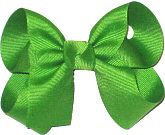 Medium Solid Color Bow Apple Green