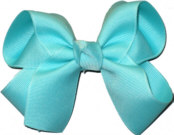 Medium Solid Color Bow Aquamarine