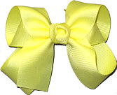 Medium Solid Color Bow Baby Maize
