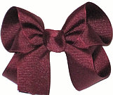 Medium Solid Color Bow Beet