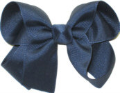 Medium Solid Color Bow Blueberry