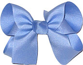 Medium Solid Color Bow Bluebird