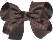 Medium Solid Color Bow Brown