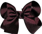 Medium Solid Color Bow Burgundy