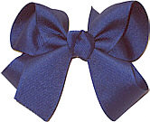 Medium Solid Color Bow Century Blue