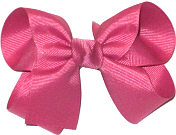Medium Solid Color Bow Colonial Rose