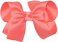 Medium Solid Color Bow Coral