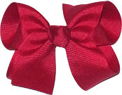 Medium Solid Color Bow Cranberry