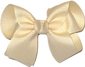 Medium Solid Color Bow Creme