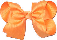 Medium Solid Color Bow Cremesicle