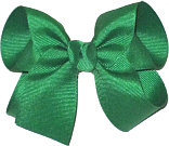 Medium Solid Color Bow Emerald