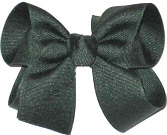 Medium Solid Color Bow Evergreen