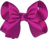Medium Solid Color Bow Festive Fuschia