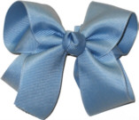 Medium Solid Color Bow French Blue