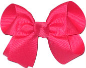 Medium Solid Color Bow French Pink