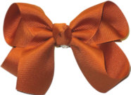 Medium Solid Color Bow Ginger